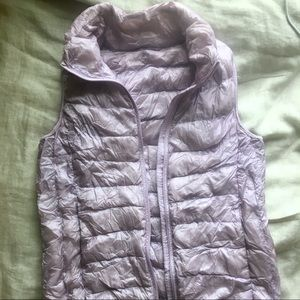 Lavender Uniqlo Down Vest